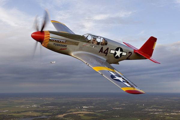 """P-51 Mustang """"By Request"""" - CAF Red Tail Squadron"""